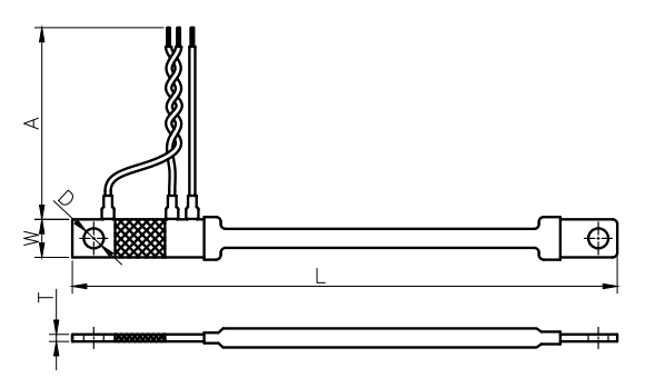 SP60-35A, High Current Flexible Shunt Assembly