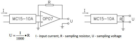 Schematic Circuit of 2-Pin Tiny Current Transformer