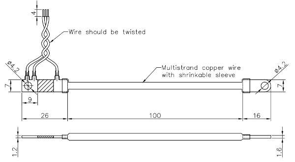 SP40-50A, Dimensions of EBW Shunt Cable