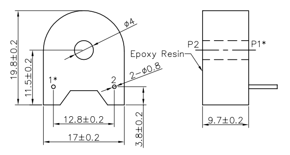 Front 2-Pin Tiny Current   Transformer